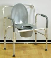 Кресло-стул с санитарным оснащением повышенной грузоподъемности Мега Оптим PR7007L