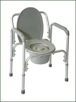 Кресло-туалет облегченное со спинкой Amrus АМСВ93 (6804)