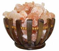 Солевая лампа абажур Корзина ЧАША (домашний очаг 787) 3-3,5 кг