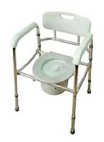 Кресло-туалет облегченное со спинкой, регулируемое по высоте AMCB6808