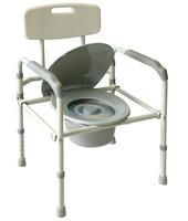 Кресло-туалет облегченное складное со спинкой Amrus (AMCF96)