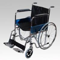 Кресло-коляска инвалидная складная Amrus AMWC18FA-SF/E с фиксированными подлокотниками и съемными подножками
