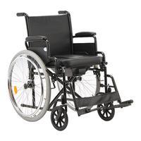 Кресло-коляска инвалидная с санитарным оснащением Армед Н 011A