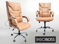 Офисное массажное кресло EGO BOSS EG1001 Орех в комплектации LUX