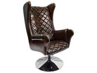 Массажное кресло EGO Lord EG3002 Lux Шоколад (арпатек) без подголовника