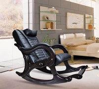 Массажное кресло-качалка EGO WAVE EG-2001 ELITE цвет Антрацит, натуральная кожа