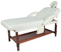 Массажный стол стационарный деревянный FIX-1A (МСТ-007) крем