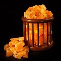 Солевая лампа абажур Корзина домашний очаг (модель 791) 3-4 кг