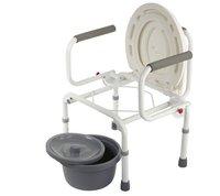 Кресло-туалет WC DeLux с откид.поруч, рег.выс.,нескладное