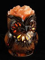 Солевая лампа СОВА коричневая 4-5 кг