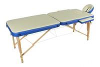 Стол массажный переносной с деревянной рамой JF-AY01 2-х секционный М/К