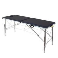 Складной массажный стол с регулировкой высоты 185х62см